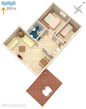 Umag, Načrt v nastanitvi vrste apartment, Hišni ljubljenčki dovoljeni.