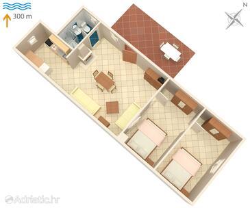 Umag, Plan kwatery w zakwaterowaniu typu apartment, zwierzęta domowe są dozwolone.