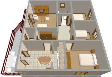 Kraj, Plan in the apartment.