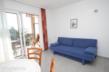 Medveja, Obývací pokoj v ubytování typu apartment, domácí mazlíčci povoleni a WiFi.