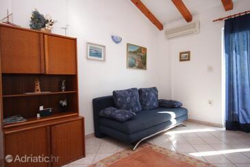 Medveja, Living room in the apartment, dostupna klima, dopusteni kucni ljubimci i WIFI.