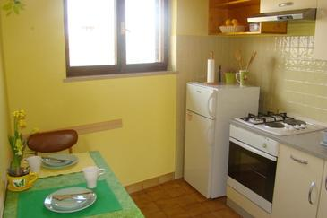 Brseč, Jedilnica v nastanitvi vrste studio-apartment, Hišni ljubljenčki dovoljeni in WiFi.