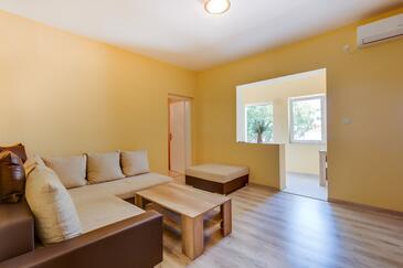 Mali Lošinj, Pokój dzienny w zakwaterowaniu typu apartment, Dostępna klimatyzacja i WiFi.