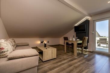 Mali Lošinj, Obývací pokoj v ubytování typu studio-apartment, WiFi.