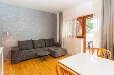 Mali Lošinj, Obývací pokoj v ubytování typu apartment, WiFi.