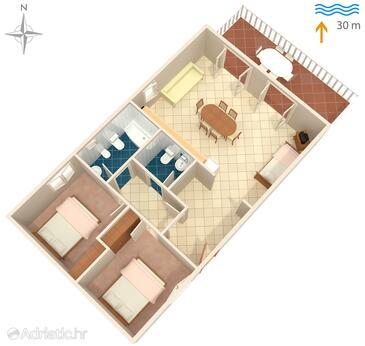 Kali, План в размещении типа apartment, Домашние животные допускаются и WiFi.