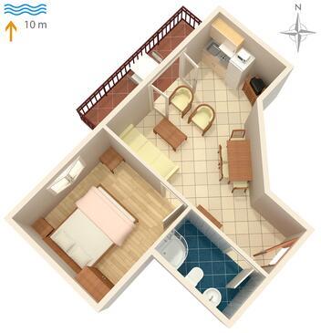 Kraj, Proiect în unitate de cazare tip apartment, WiFi.