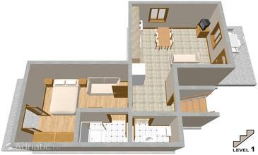 Mala Lamjana, Plan in the apartment.