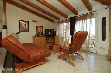 Cavtat, Sala de estar in the apartment, (pet friendly) y WiFi.