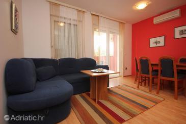 Povljana, Living room in the apartment, WIFI.