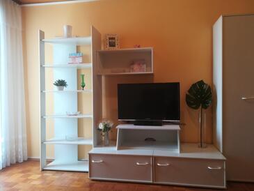 Sveti Petar, Pokój dzienny w zakwaterowaniu typu apartment, dopusteni kucni ljubimci i WIFI.
