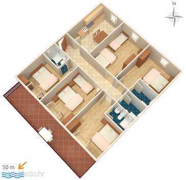 Sveti Petar, Plan in the apartment, WIFI.