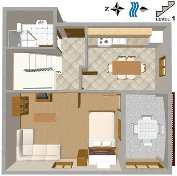 Sveti Petar, Plan kwatery w zakwaterowaniu typu apartment, dopusteni kucni ljubimci i WIFI.