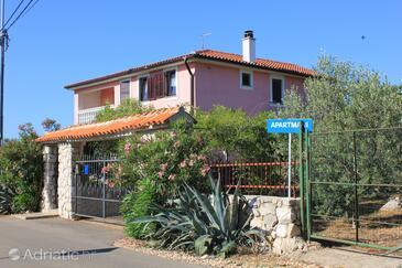 Punta križa, Cres, Objekt 383 - Ubytování s kamenitou pláží.
