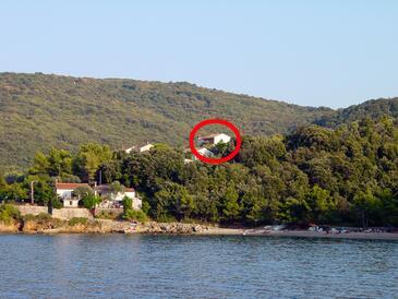 Valun, Cres, Objekt 386 - Ubytování v blízkosti moře s oblázkovou pláží.