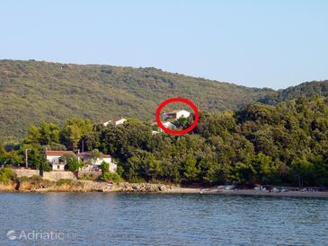 Valun, Cres, Объект 386 - Апартаменты и комнаты вблизи моря с галечным пляжем.