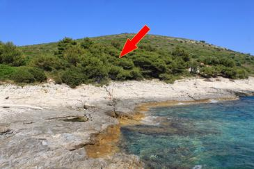 Ripišće, Dugi otok, Obiekt 394 - Willa przy morzu.