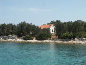 Krknata, Dugi otok, Hébergement 399 - Maison vacances à proximité de la mer avec une plage rocheuse.