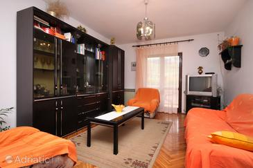 Jelsa, Living room in the apartment, WiFi.
