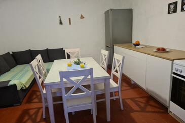 Skozanje, Sala da pranzo nell'alloggi del tipo house, animali domestici ammessi.