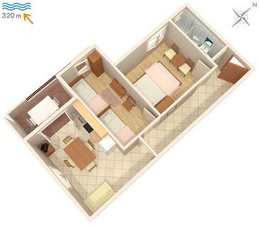 Stari Grad, Plan in the apartment, (pet friendly) and WiFi.