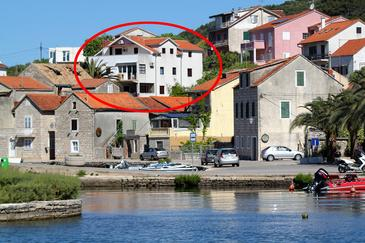 Vrboska, Hvar, Obiekt 4025 - Apartamenty przy morzu ze żwirową plażą.