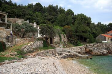 Uvala Skozanje, Hvar, Property 4039 - Vacation Rentals near sea with pebble beach.