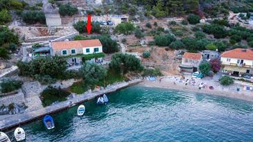 Torac, Hvar, Obiekt 4044 - Apartamenty przy morzu ze żwirową plażą.