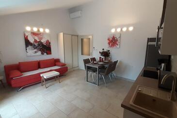 Mudri Dolac, Pokój dzienny w zakwaterowaniu typu apartment, Dostępna klimatyzacja i WiFi.
