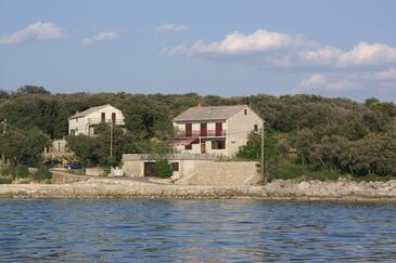 Mulobedanj, Pag, Obiekt 4061 - Pokoje przy morzu ze żwirową plażą.