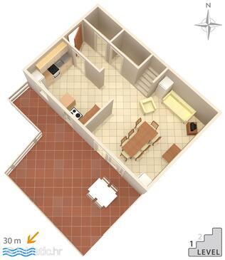 Zubovići, Grundriss in folgender Unterkunftsart apartment, WiFi.