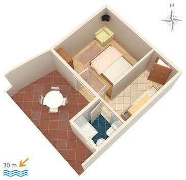 Zubovići, Plan kwatery w zakwaterowaniu typu studio-apartment, dopusteni kucni ljubimci i WIFI.