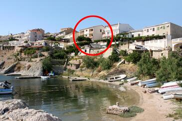 Zubovići, Pag, Property 4066 - Apartments and Rooms near sea with pebble beach.