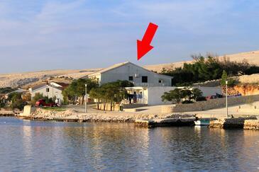 Kustići, Pag, Objekt 4079 – Apartmaji v bližini morja.