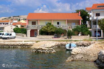 Kustići, Pag, Objekt 4081 - Ubytování v blízkosti moře s oblázkovou pláží.