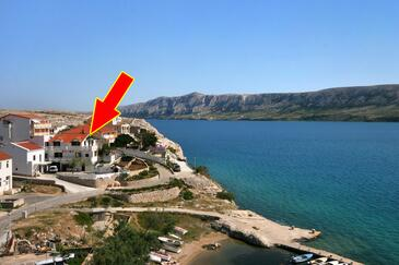 Zubovići, Pag, Property 4082 - Apartments by the sea.