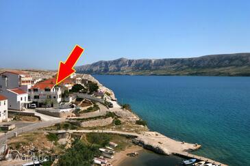 Zubovići, Pag, Objekt 4082 - Ubytování v blízkosti moře.