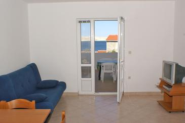 Kustići, Pokój dzienny w zakwaterowaniu typu apartment, dopusteni kucni ljubimci i WIFI.