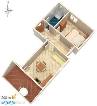 Potočnica, План в размещении типа apartment, WiFi.