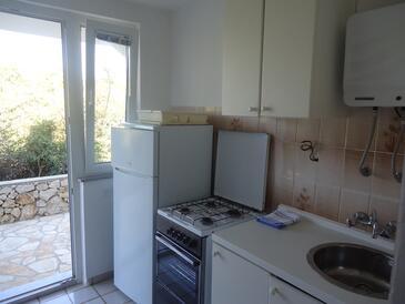 Novalja, Kitchen in the apartment.