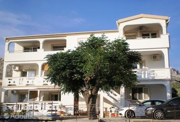 Metajna, Pag, Property 4117 - Apartments with sandy beach.
