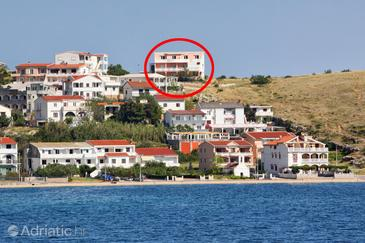 Metajna, Pag, Property 4118 - Apartments with sandy beach.