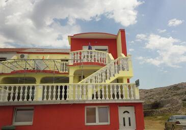 Zubovići, Pag, Hébergement 4125 - Appartement à proximité de la mer.