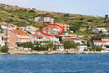 Metajna, Pag, Obiekt 4126 - Apartamenty z piaszczystą plażą.