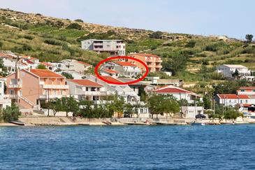 Metajna, Pag, Property 4127 - Apartments with sandy beach.
