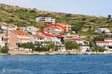 Metajna, Pag, Objekt 4127 - Apartmaji s peščeno plažo.
