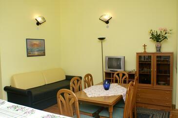 Novalja, Obývacia izba v ubytovacej jednotke apartment, WIFI.