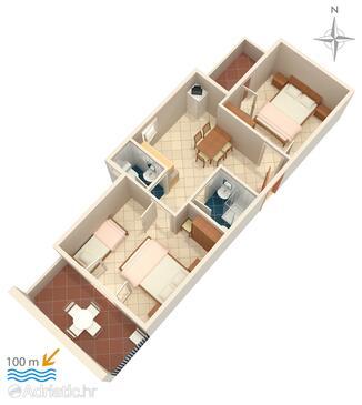 Zubovići, Plan in the apartment, WIFI.