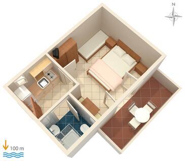 Zubovići, Plan kwatery w zakwaterowaniu typu apartment, WIFI.