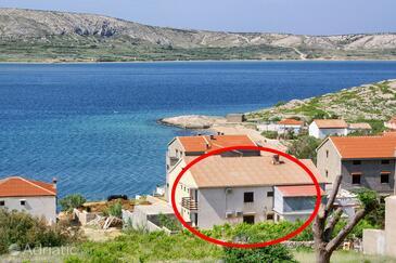 Zubovići, Pag, Property 4141 - Rooms near sea with sandy beach.